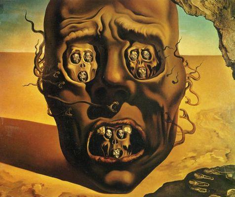 Le visage de la guerre - Salvador Dali
