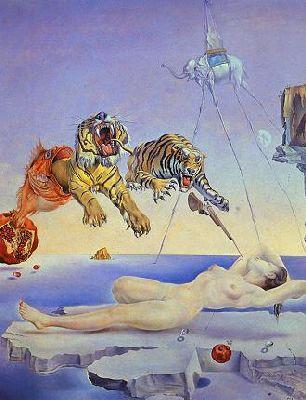 Rêve causé par le vol d'une abeille - Salvador Dali